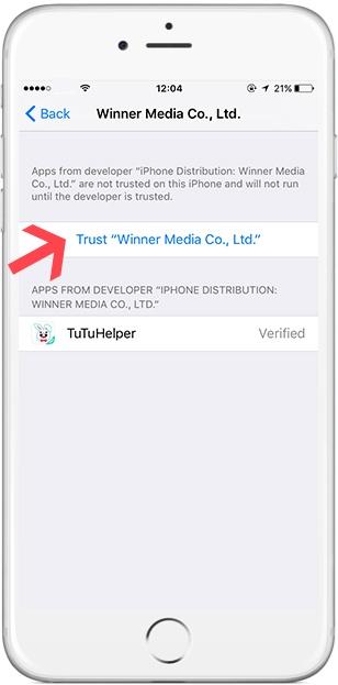 TutuApp iOS Trust