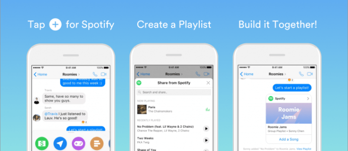 Spotify Playlists With Facebook Messenger