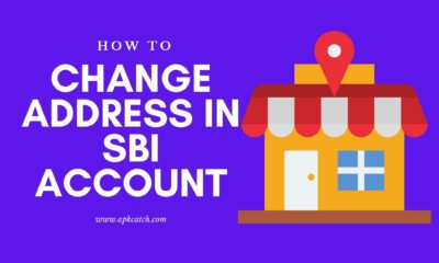 How to change address in SBI account