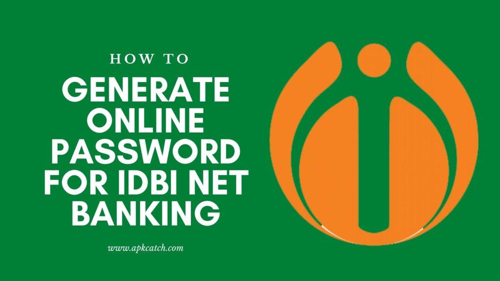 IDBI Net Banking Generate Online Password