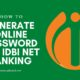 IDBI Net Banking Generate Online Password