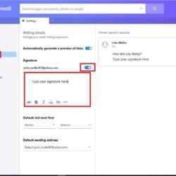 Yahoo Email Signature